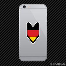 German Driver Badge Cell Phone Sticker Mobile Germany DEU DE