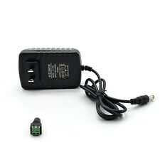 AC100-240V to DC 12V 2A Power Supply Adapter Transformer US Plug + Green Adapter
