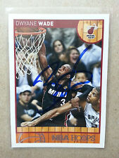 Dwayne Wade 2013/14 NBA Hoops Signed Autographed Basketball Card Miami Heat #52