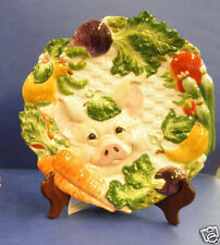 Fitz & Floyd Percy Pig Canape Plate -New in Box! #2058/420