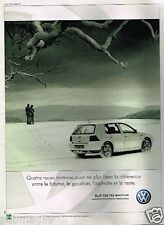 Publicité advertising 2000 VW Volkswagen Golf TDI 115 4motion