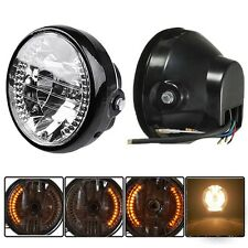 "6.5"" Motor Headlight LED Turn Signal Indicator For Harley Honda Yamaha Suzuki"