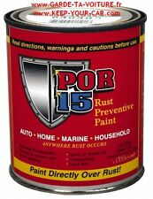 POR15  - Peinture anticorrosion noir brilliant 1 Pint (ca 475 ml) /black gloss