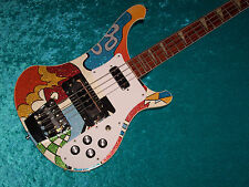 AMAZING Custom Hand Painted Rickenbacker 4003 Electric Bass Guitar  4001