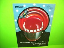 Zaccaria DEVIL RIDERS Original 1984 Flipper Game Pinball Machine Flyer Italy