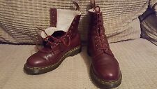 Dr. MARTENS size 6 CHERRY fur SERENA winter ankle