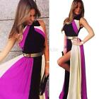 Chic Women Maxi Long Chiffon Sun Beach Ball Gown Evening Formal Party Dress C15
