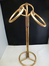 Vtg Stylebuilt Gold Rope Hand Towel Holder - Hollywood Regency MID CENTURY  MOD