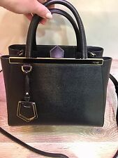 Fendi Petite 2Jours Elite Leather Shopper Bag