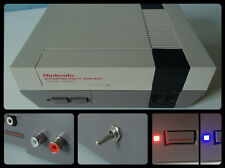 NINTENDO NES PAL/USA - OVERCLOCK + RED/BLUE LED + STEREO MOD - CONSOLE ONLY
