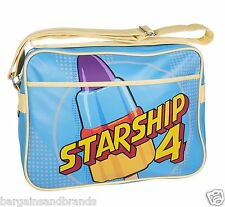 Retro Walls Rocket Lolly Starship Shoulder Messenger School Uni Gym Sports Bag
