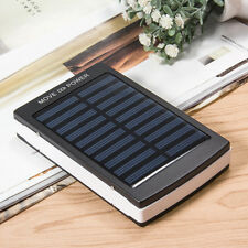 80000mah Solar Power Charger 2 USB 4 LED External Battery Charger For iPhone US