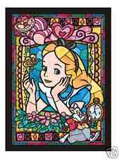 Alice Stained Glass Arts - 266 Pieces Disney Jigsaw Puzzle by Tenyo from Japan