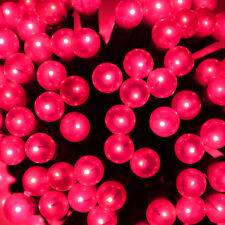 Loop Of 150 Bright Pink Berry Bulb Lights String Chain Christmas Xmas Indoor