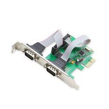 9-pin Serial Ports DB9 RS232 PCI-e Card full height free Low Profile Bracket