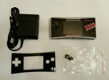 Silver NES Nintendo GameBoy Micro in Great Condition. Custom Red Buttons.