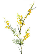 Artificial Yellow Mimosa Flower Spray 80cm - Spring and Summer Flowering Stem