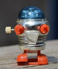 Vintage 1977 TOMY Wind Up Toy Pocket RASCAL ROBOT Blue Taiwan TESTED & WORKING