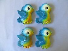 LOT OF 4 1970 MILLER STUDIO INC. CHALKWARE BLUEBIRDS