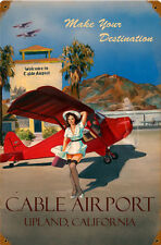 Cable Airport  Pin-Up  Metal Sign