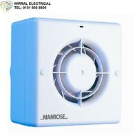Manrose  CF100T Quiet, Centrifugal bathroom and toilet fan