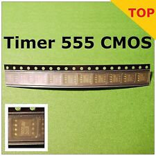 10x 555 CMOS TIMER + Bastelbuch ! !  TS555CDT , STMicroelectronics , SMD 8-SOIC