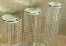 Crystal chandelier stile CAKE STAND Effetto Diamante-Set di 3 livelli