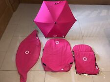 Bugaboo Cameleon Tailored Fabric Accessory Set Pink + New Pink Umbrella