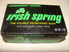 Vintage Irish Spring Double Deodorant Soap Bar NOS5 oz Legendary Green label