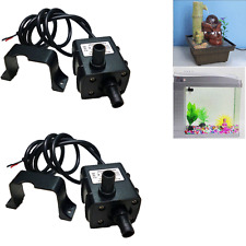 2x Ultra-quiet Micro Brushless DC12V 5W Motor Submersible Water Oil Pump 240L/H