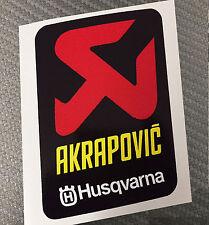1 Adesivo Stickers AKRAPOVIC HUSQ resistente al calore cube