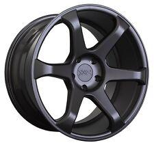 XXR 556 18x8.75 Rims 5x114.3 +36 Black Wheels Fits S2000 Rsx Tsx TL Speed 3