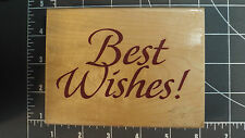 NEW Rubber Wood Stamp Wedding Invitation Best Wishes! Birthday Card Gift wrap