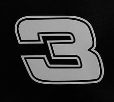 "(2) # 3 Dale Earnhardt Sr Racing Vinyl Die Cut Decal Nascar Sticker 5"" Jr."