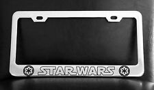 """""""STAR WARS IMPERIAL"""" License Plate Frame, Custom Made of Chrome Plated Metal"""