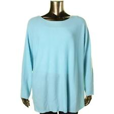 Charter Club 5838 Womens Blue Cashmere Pullover Sweater Top Plus 3X BHFO