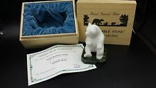 Hand Carved Star Marble Stone Grizzly Bear Original COA Jade