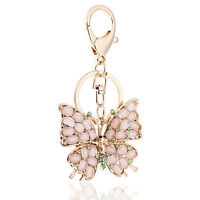 Handbag Buckle Charms Accessories Crystal Butterfly Keyrings Key Chains HK45