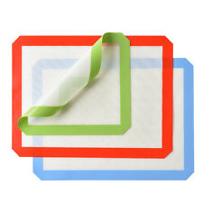 Silicone Baking Mat Set of 3 Non-Stick Heat Resistant Baking Cookie Sheets