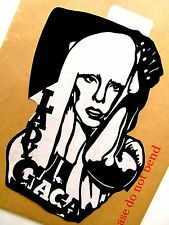 "LADY GAGA ORIGINALE Pop Art, Music Celebritie Adesivo 6""x 8 1/2 ""pollici ritratto."
