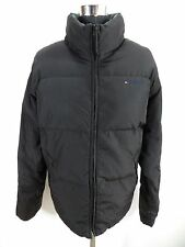 Mens TOMMY HILFIGER padded jacket size XXL, Black puffer coat NDR519