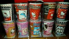 HELLO KITTY 40th Anniversary Shot Glass COLLECTION Lot of 10 Depicts 40yrs NEW!