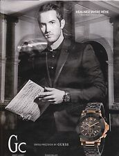 GUESS Gc MONTRE WATCH - PUBLICITE PRESSE - PAPER ADVERT 2014