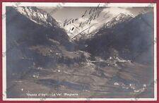 BRESCIA VEZZA D'OGLIO 25 VAL PAGHERA Cartolina VIAGGIATA 1928 REAL PHOTO