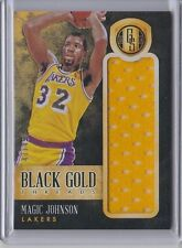 Magic Johnson 2013-14 Gold Standard Black Gold Threads Jumbo Jersey /49