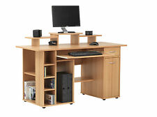 San Diego Beech Home Office Desk Workstation with Storage
