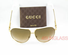 GUCCI 1827 sunglasses GOLD/WHITE  case and cloth BNC IS