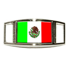Mexico Mexican Flag - Rectangular Shoe Decoration Sneaker Shoelace Charm
