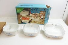 VINTAGE CORNING WARE KITCHEN STARTER SET BLUE CORNFLOWER WITH ORIGINAL BOX