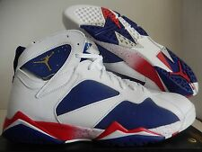 NIKE AIR JORDAN 7 RETRO OLYMPIC TINKER ALTERNATE WHITE-GOLD SZ 13.5 [304775-123]